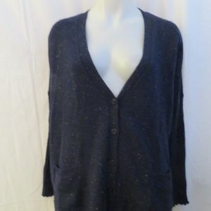 DESIGN HISTORY NAVY CARDIGAN SWEATER M